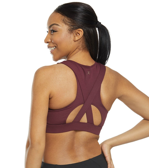 Danskin x Jenna Dewan High Neck Medium Impact Yoga Sports Bra