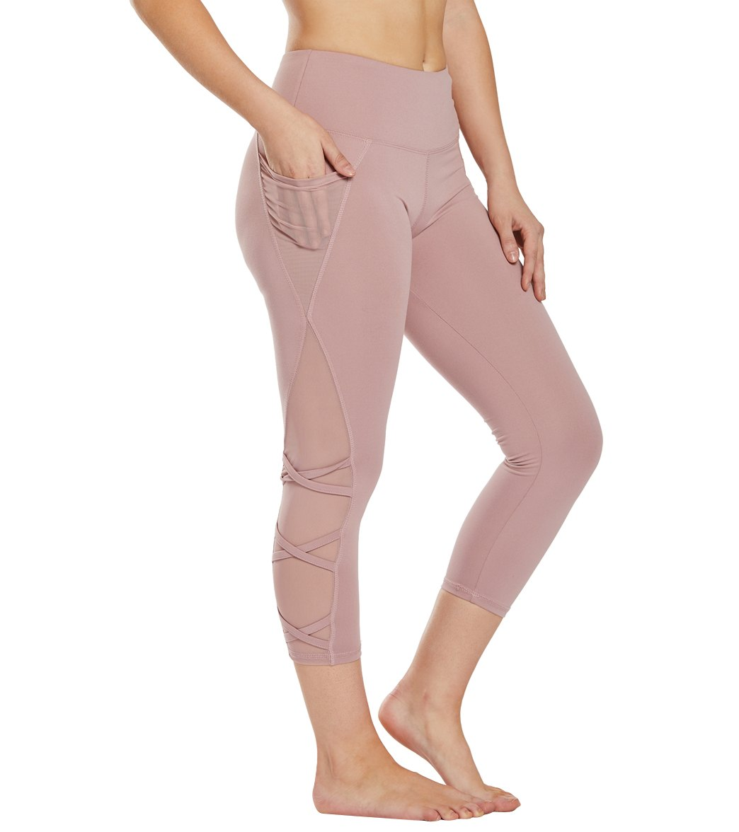 Balance Collection Candace Yoga Capri Pants - Woodrose Cotton