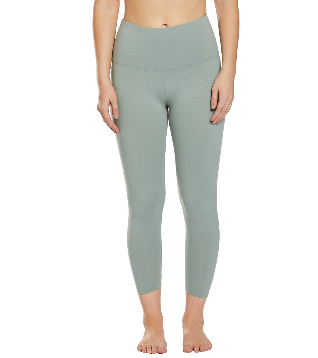 Balance Collection Ultra High Waisted Yoga Capri Pants - Slate Grey Cotton