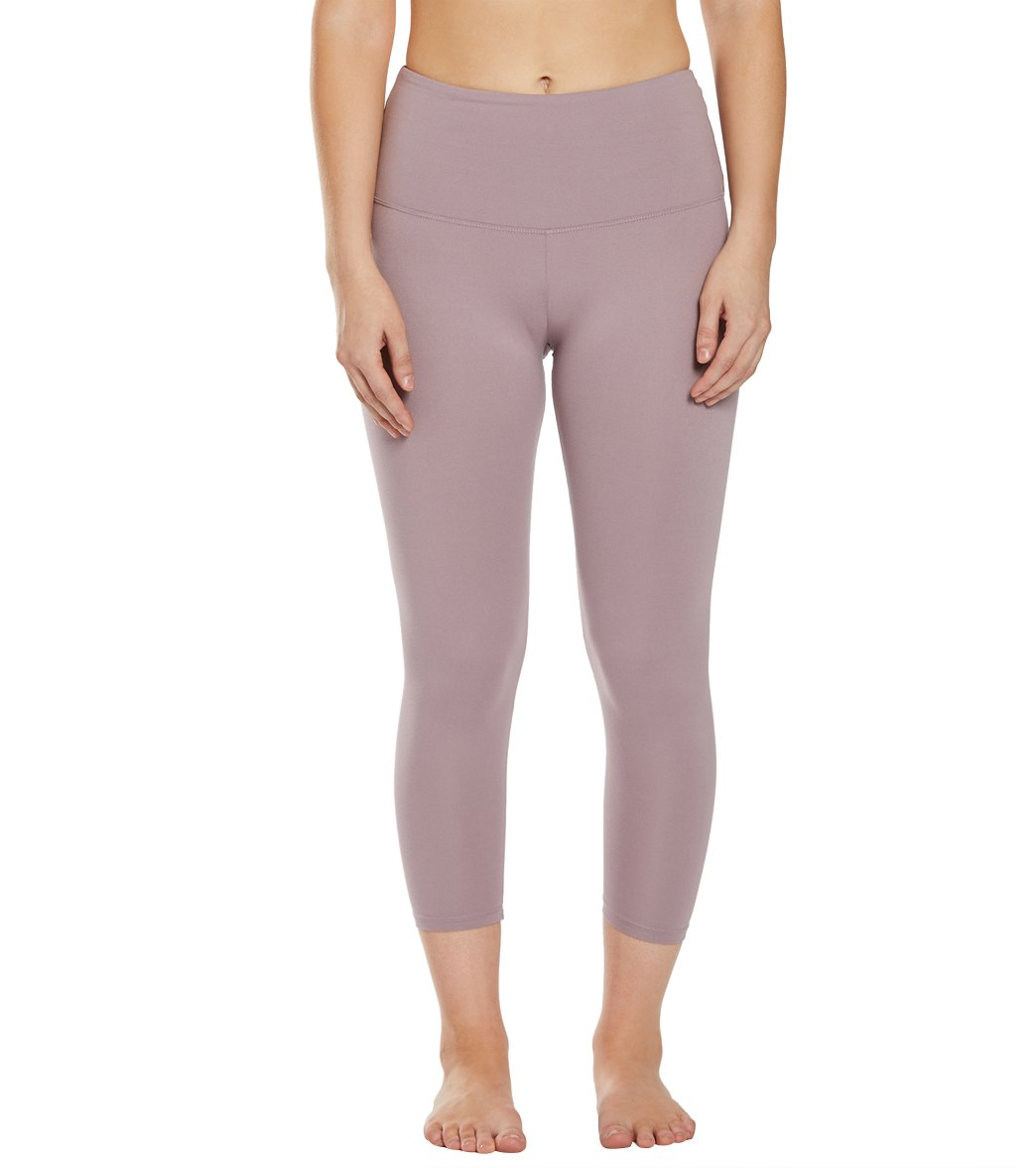 Balance Collection Ultra High Waisted Yoga Capri Pants - Quail Cotton