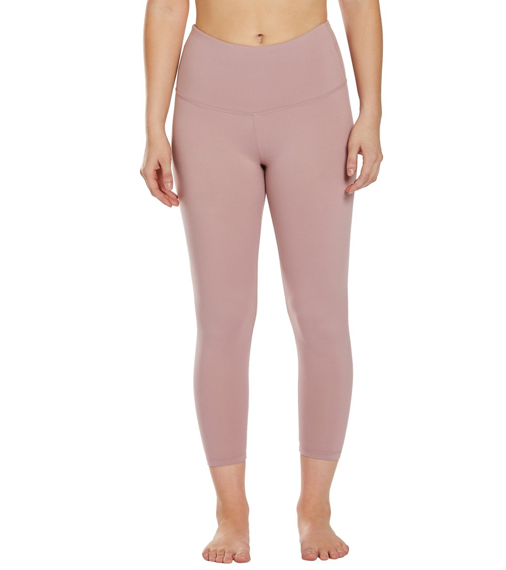 Balance Collection Ultra High Waisted Yoga Capri Pants - Woodrose Cotton