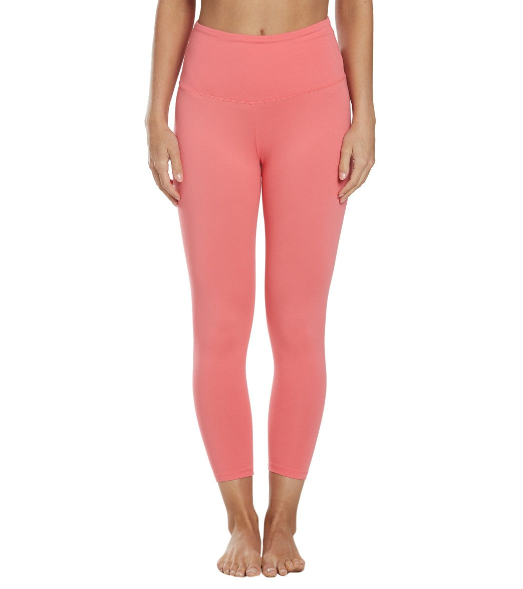 Balance Collection Ultra High Waisted Yoga Capri Pants - Rose Of Sharon Cotton