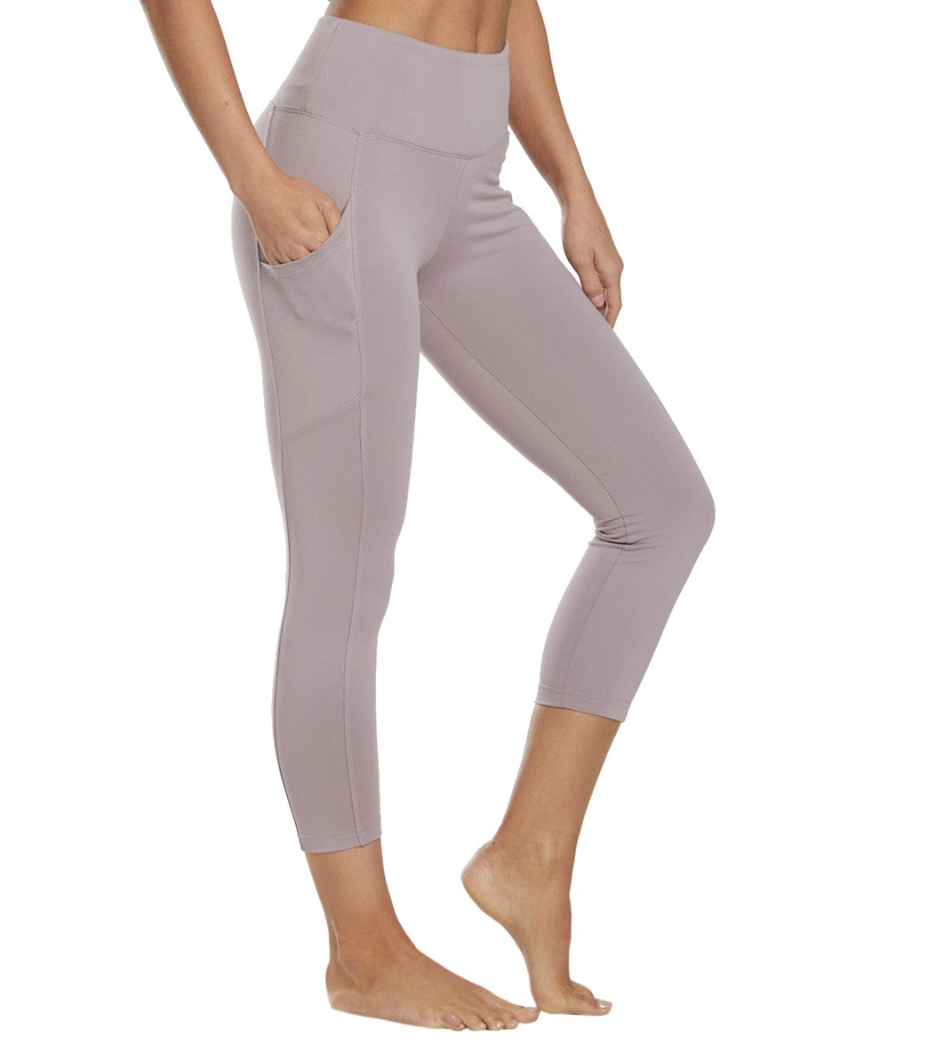 Balance Collection Eclipse Yoga Capri Pants - Fair Aqua Cotton