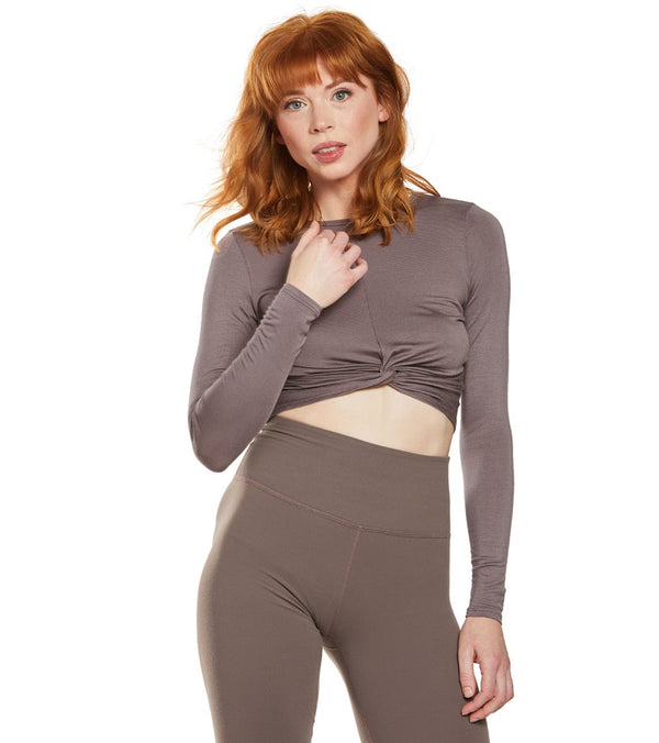 Beyond Yoga Crossroads Reversible Cropped After Yoga Pullover