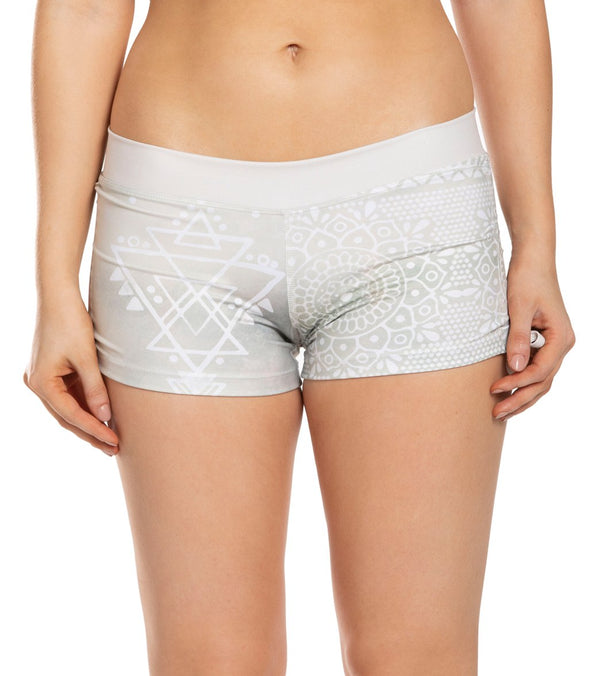 Mika Yoga Wear Lucia Printed Hot Yoga Shorts