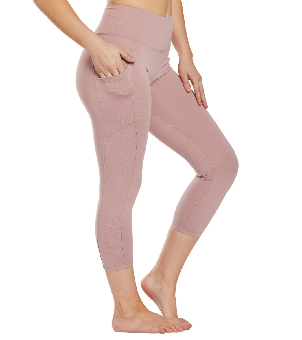 Balance Collection Eclipse Yoga Capri Pants - Woodrose Cotton