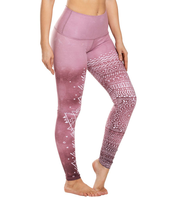 Mika Yoga Wear Kaya High Waisted Printed Yoga Leggings