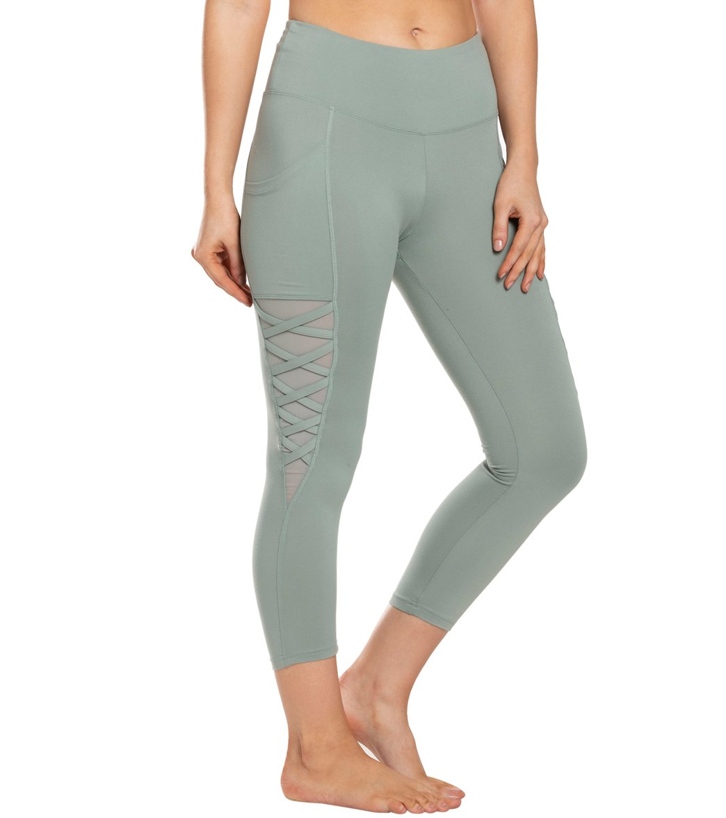 Balance Collection Nadya Yoga Capri Pants - Slate Grey Cotton