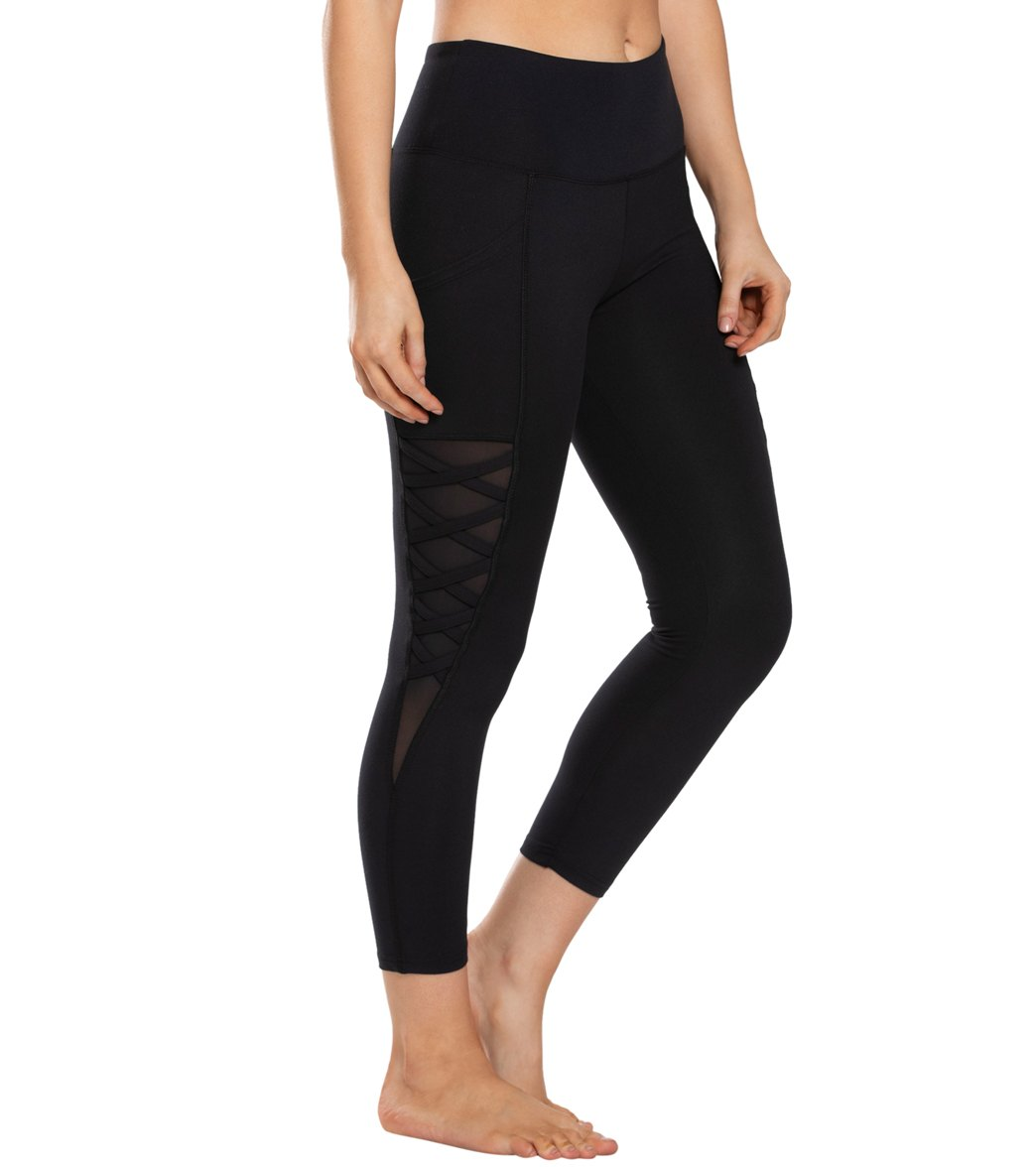 Balance Collection Nadya Yoga Capri Pants - Black Cotton
