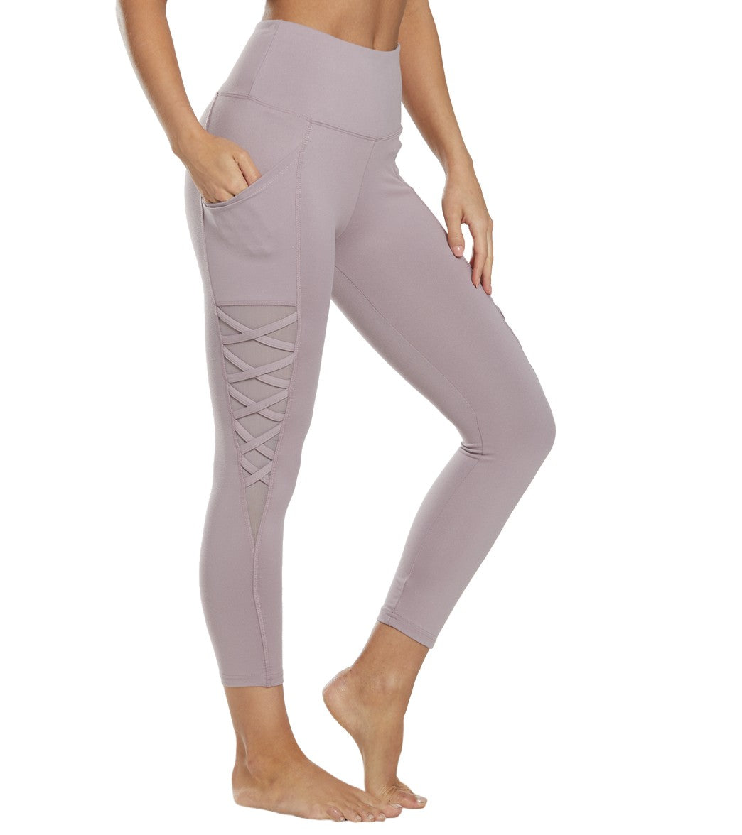 Balance Collection Nadya Yoga Capri Pants - Quail Cotton