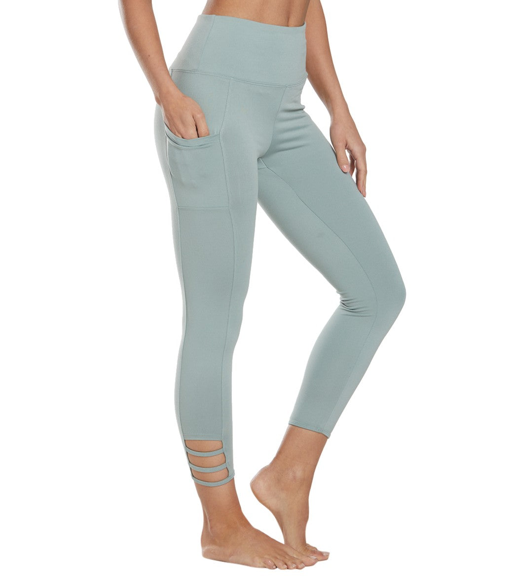 Balance Collection Maddie Yoga Capri Pants - Slate Grey Cotton