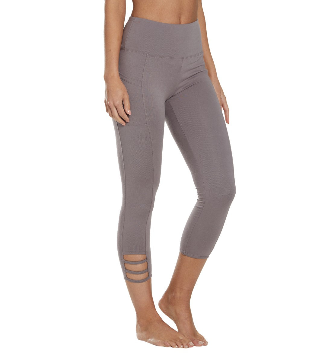 Balance Collection Maddie Yoga Capri Pants - Coco Cotton
