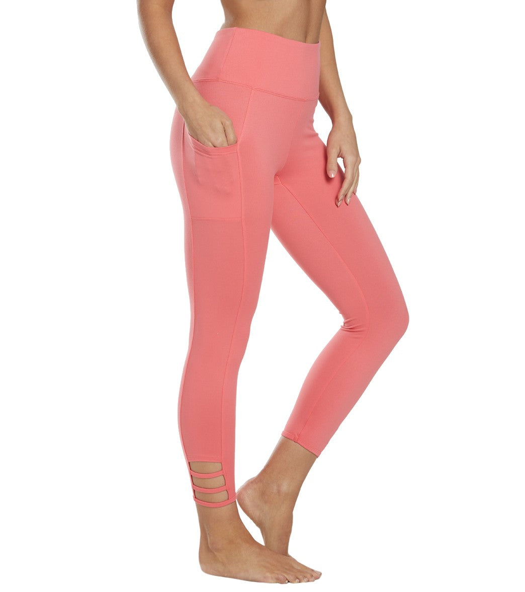 Balance Collection Maddie Yoga Capri Pants - Rose Of Sharon Cotton