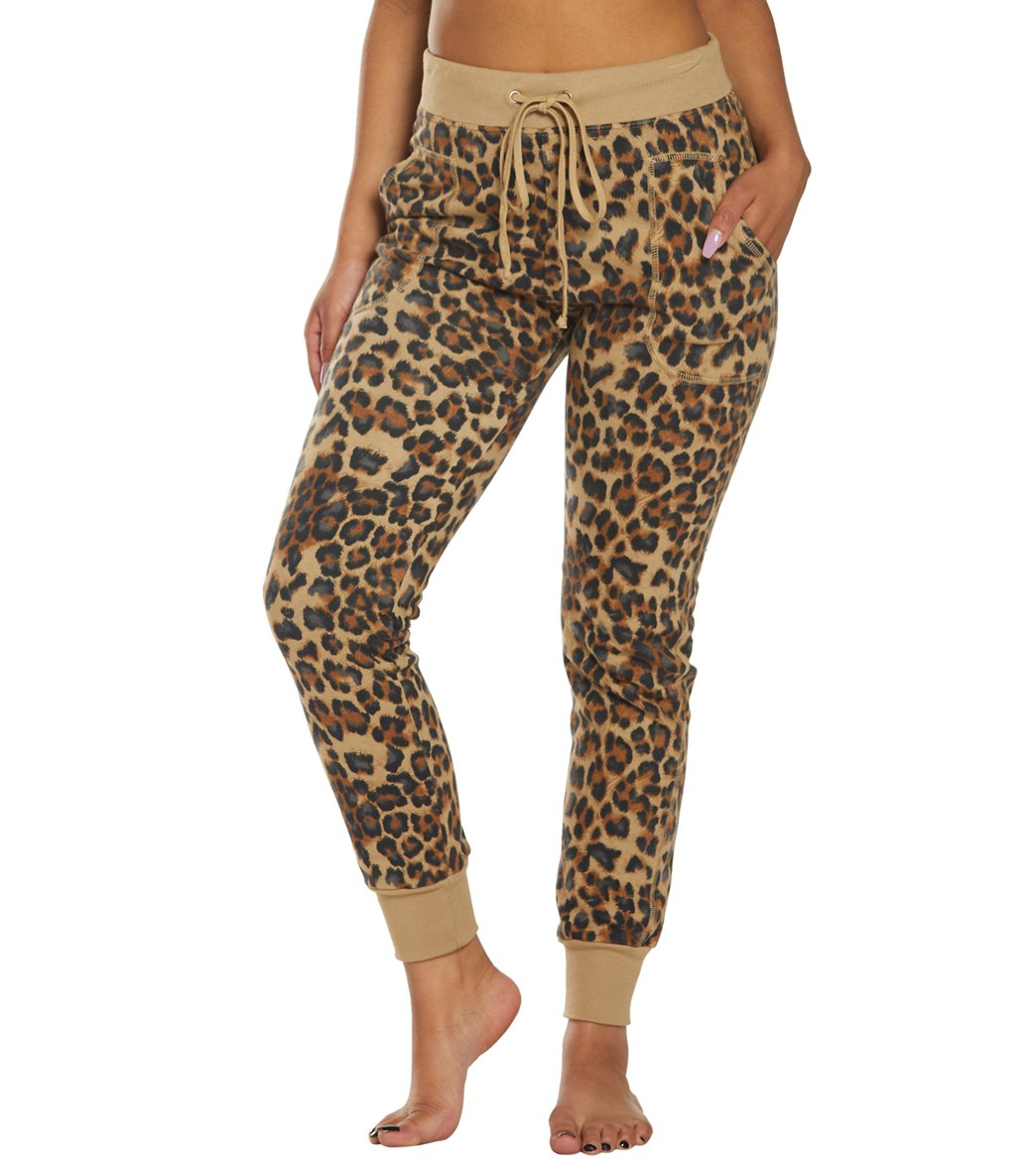 Hard Tail Leopard Weekend Jogger Pants - Camel Cotton