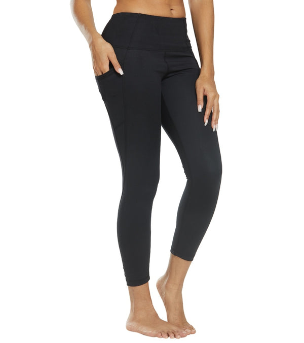 Danskin Shirred 7/8 Yoga Leggings