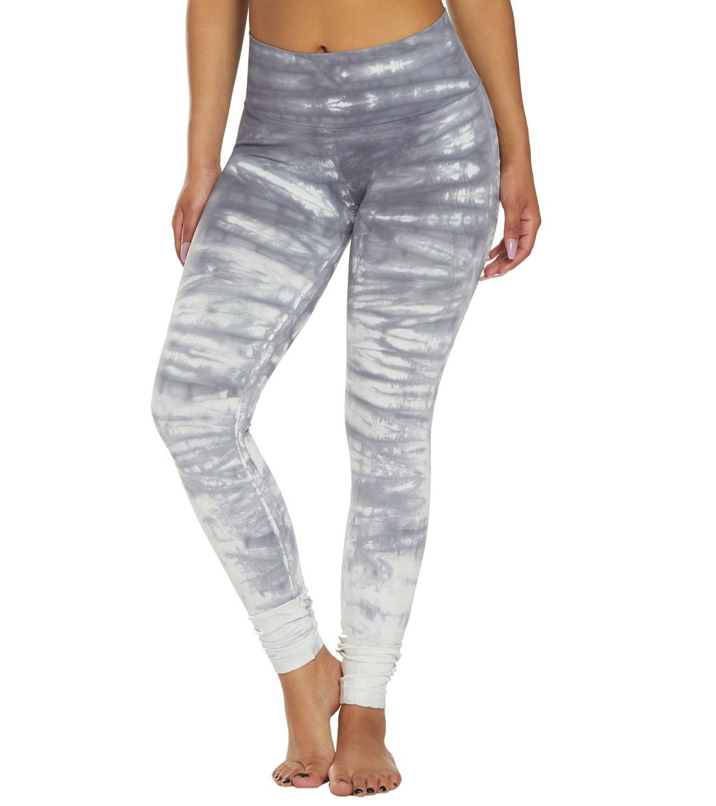 NUX Mesa Hand Dyed Seamless Yoga Leggings - Slate Waterfall Spandex