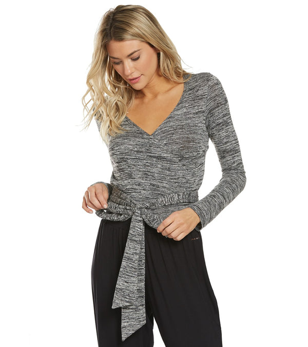 Danskin Wrap Long Sleeve Yoga Top
