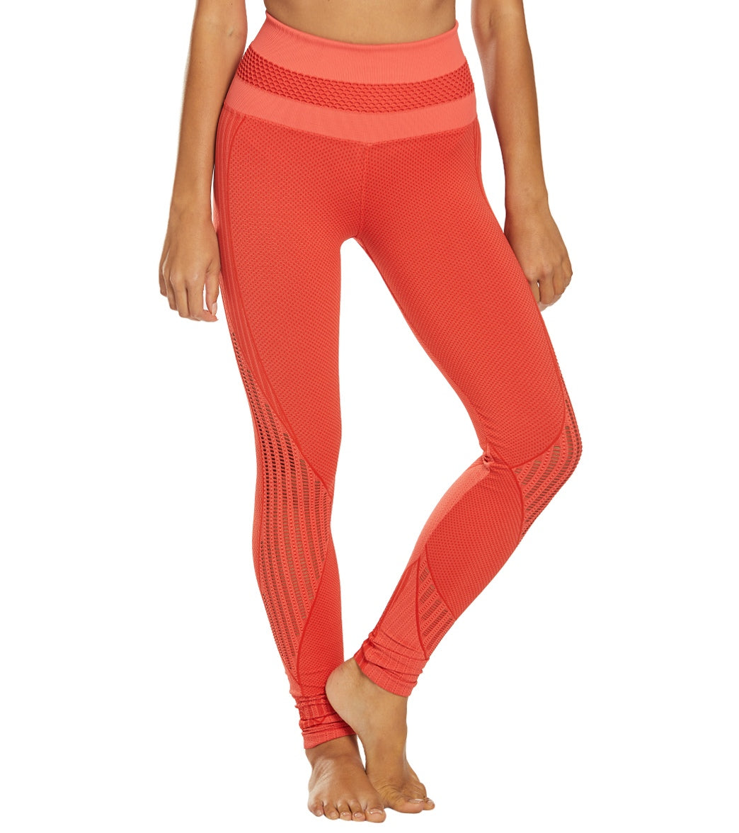 NUX Get Shredded High Waisted Seamless Yoga Leggings - Poppy Spandex
