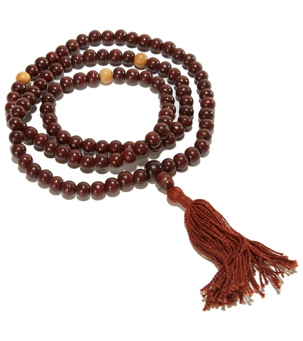 Shamans Market Rosewood Mala with Drawsting Bag