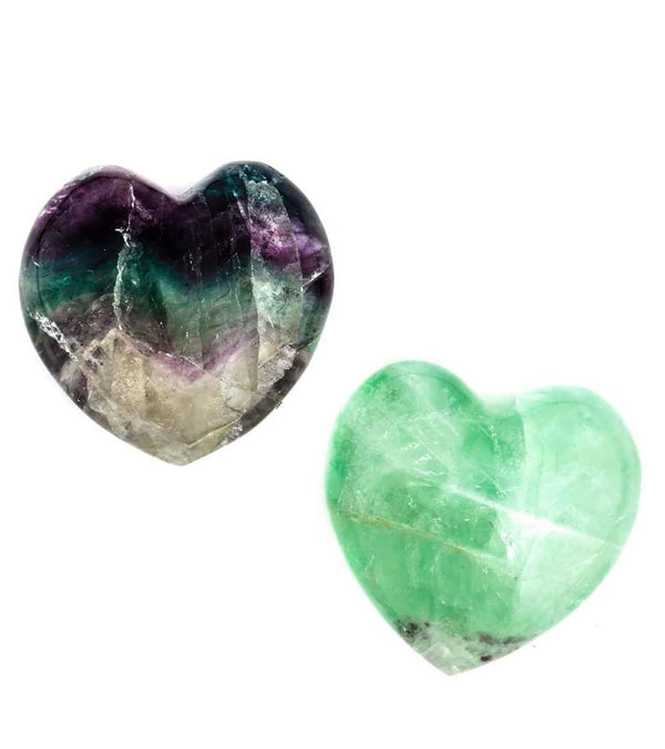 SoulMakes Set of 2 Fluorite Hearts