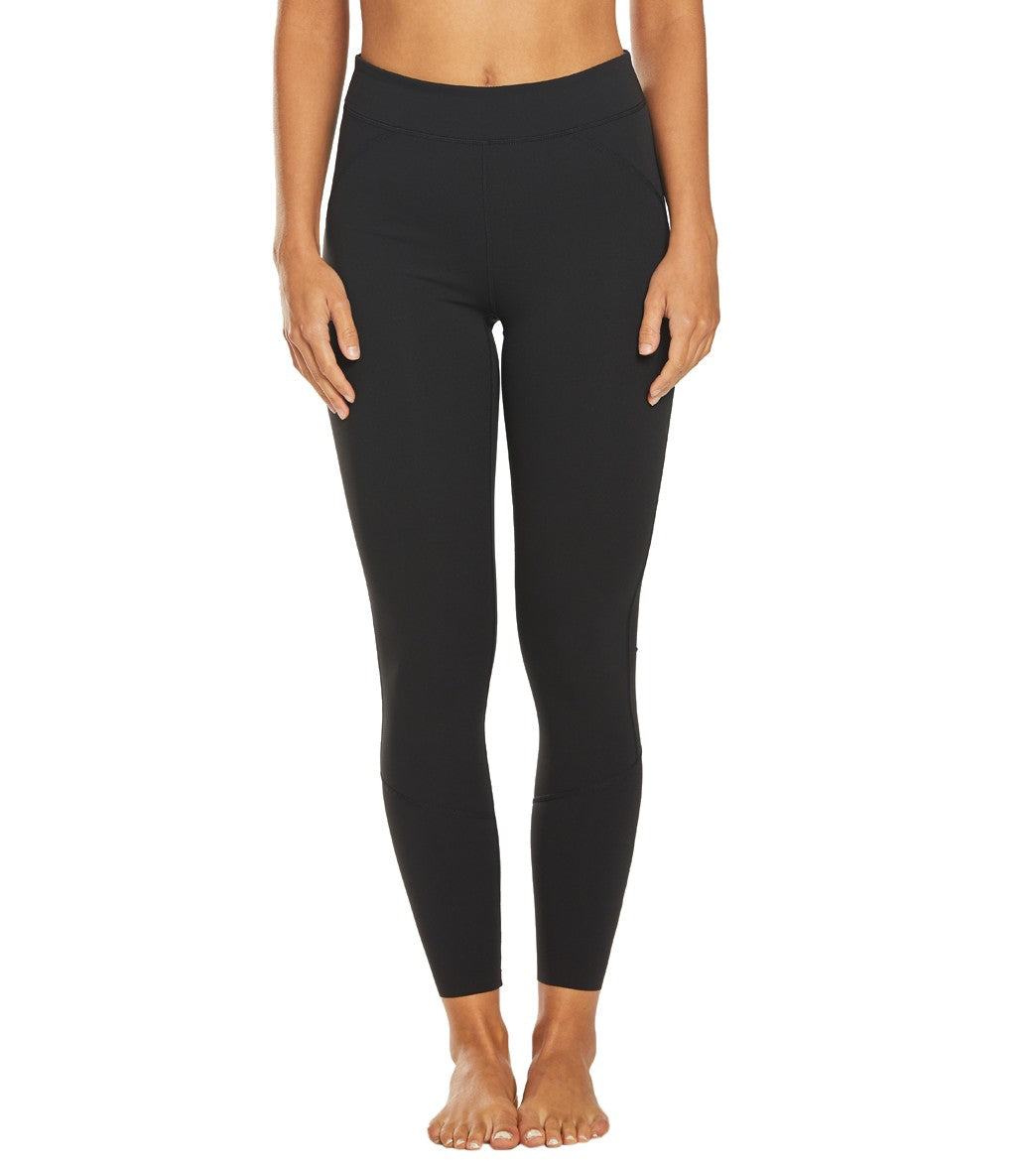 Free People Over the Moon Yoga Leggings - Black Spandex