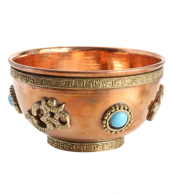 Shamans Market Copper Om Offering Bowl