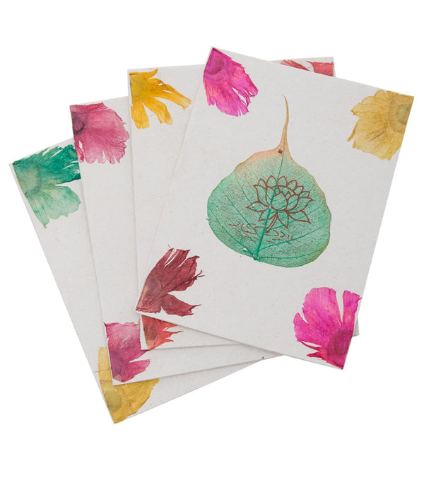 Yak & Yeti Lotus Greeting Cards