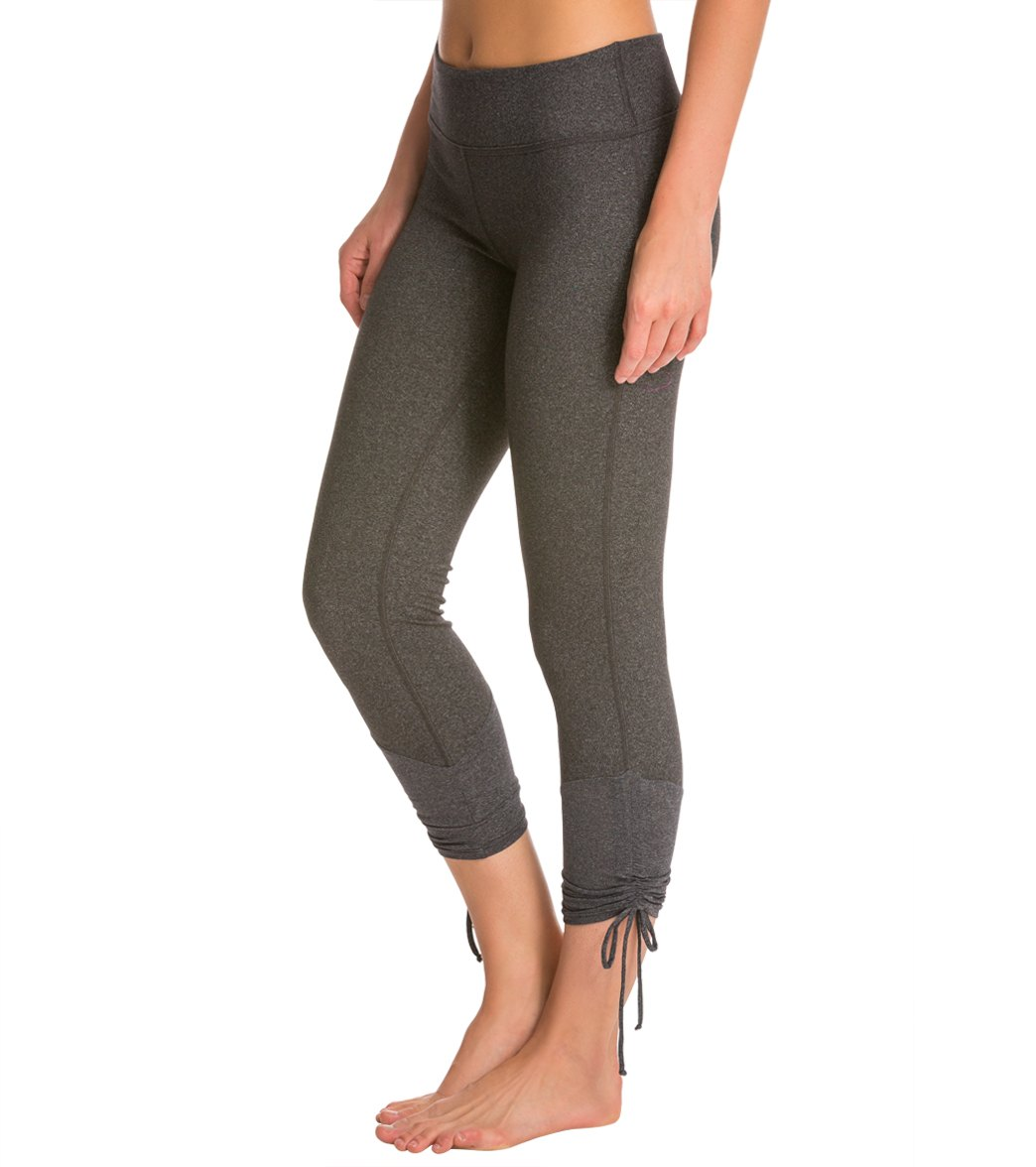 cde5bf53c42c58 Beyond Yoga Ethereal Shirred Ankle-Tie Legging at YogaOutlet.com