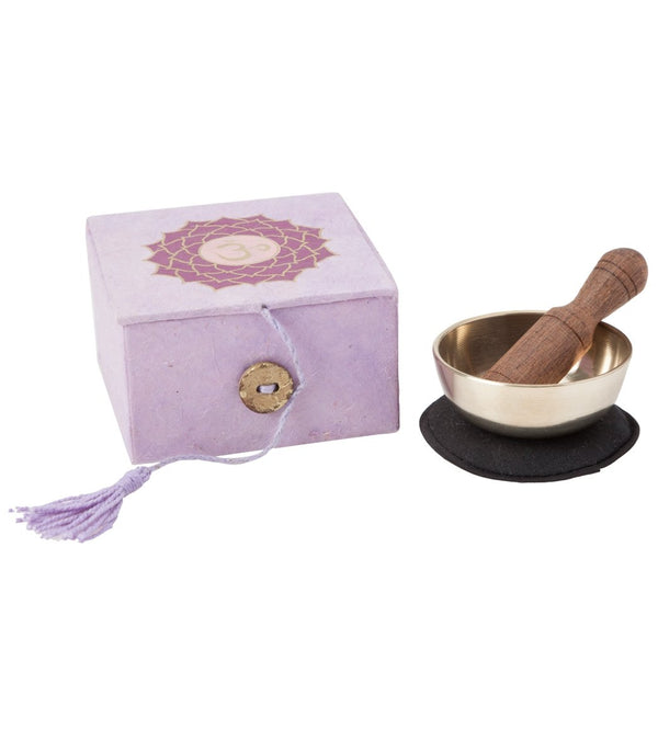 dZi Crown Chakra Mini Meditation Bowl Box