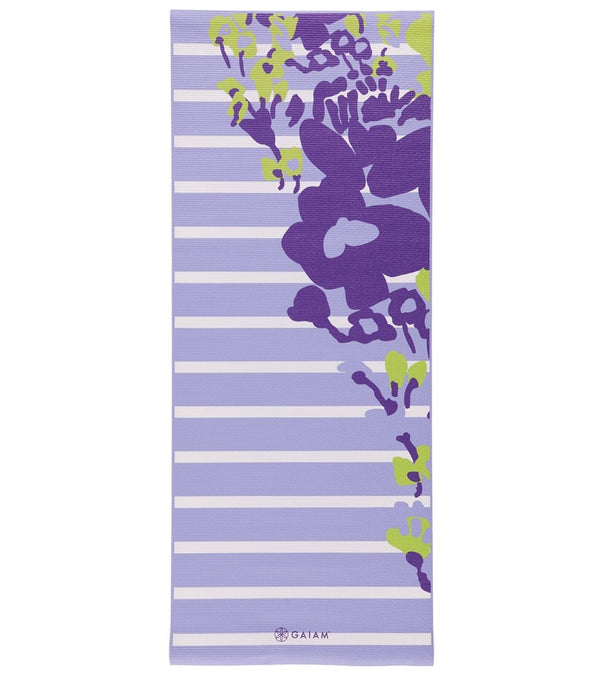 "Gaiam Kids Yoga Mat Purple Flowers 60"" 3mm"