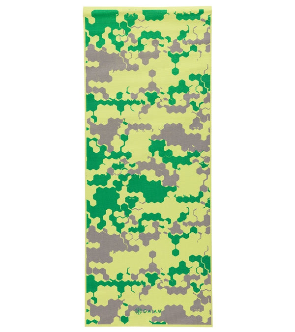 "Gaiam Kids Yoga Mat Green Camo 60"" 3mm"