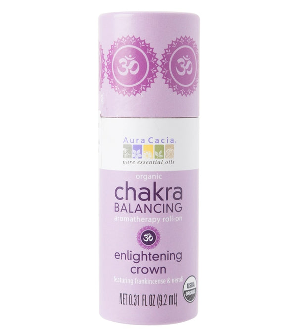 Aura Cacia Enlightening Crown Organic  Chakra Balancing Roll On