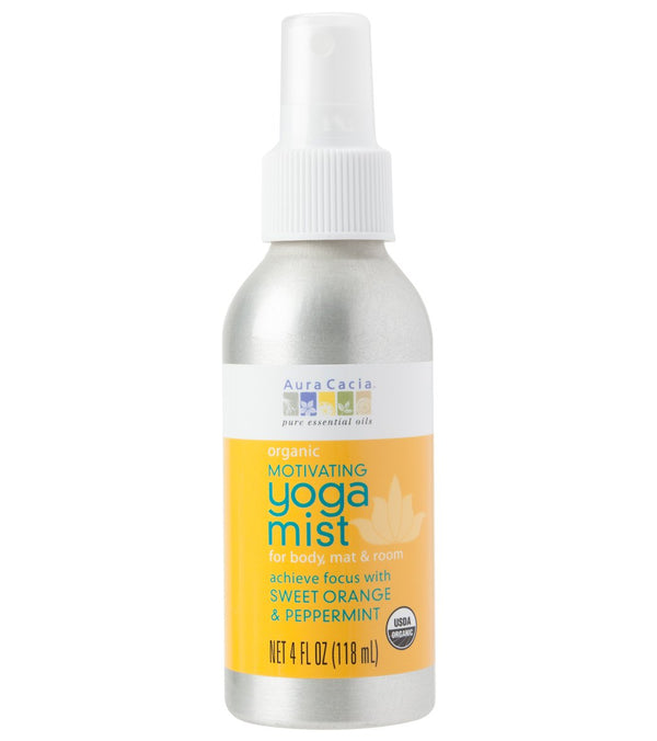 Aura Cacia Motivating, Sweet Orange & Peppermint Certified Organic Yoga Mist