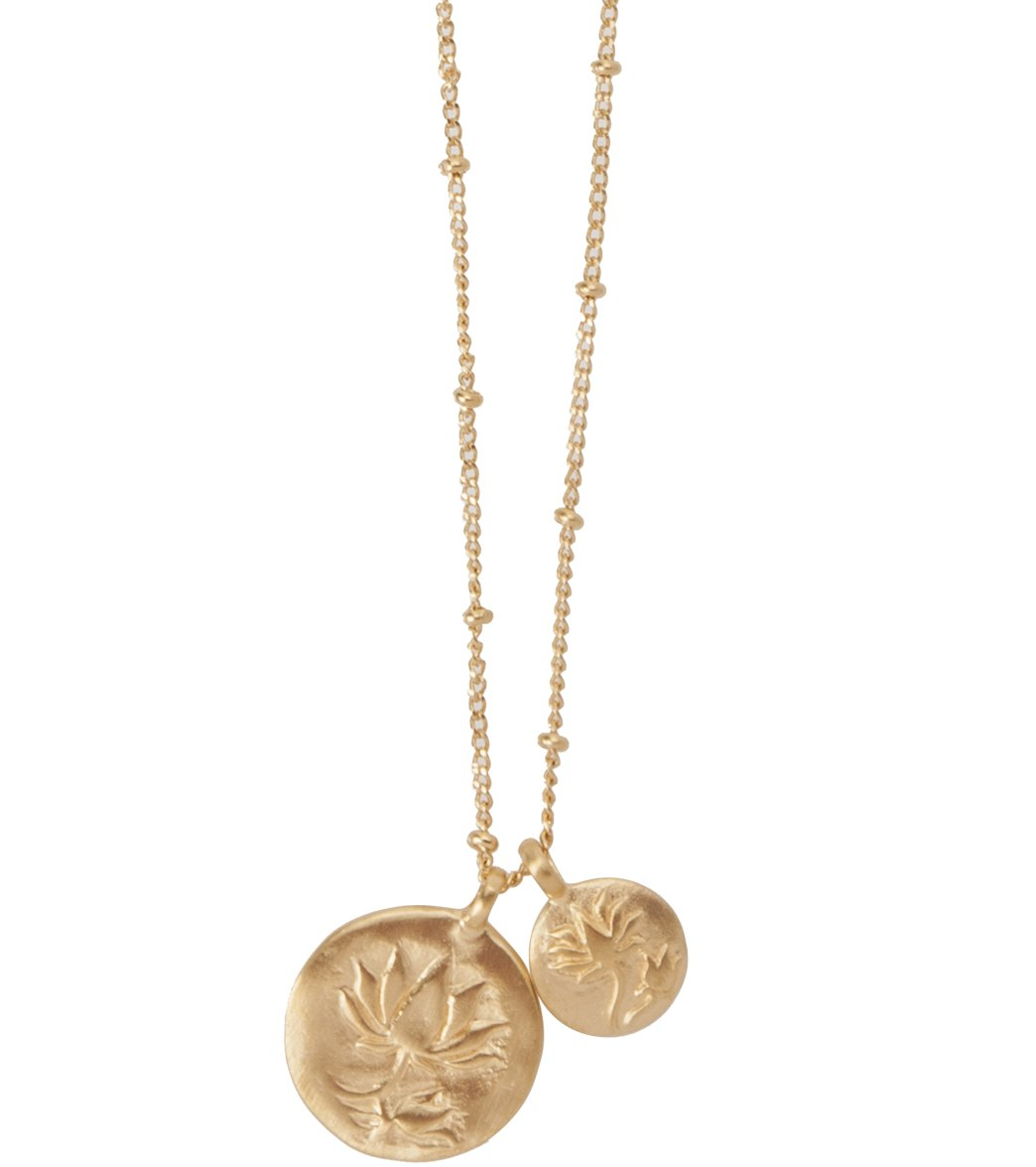 8069c29cf81ec7 Satya Jewelry Gold Lotus Necklace at YogaOutlet.com