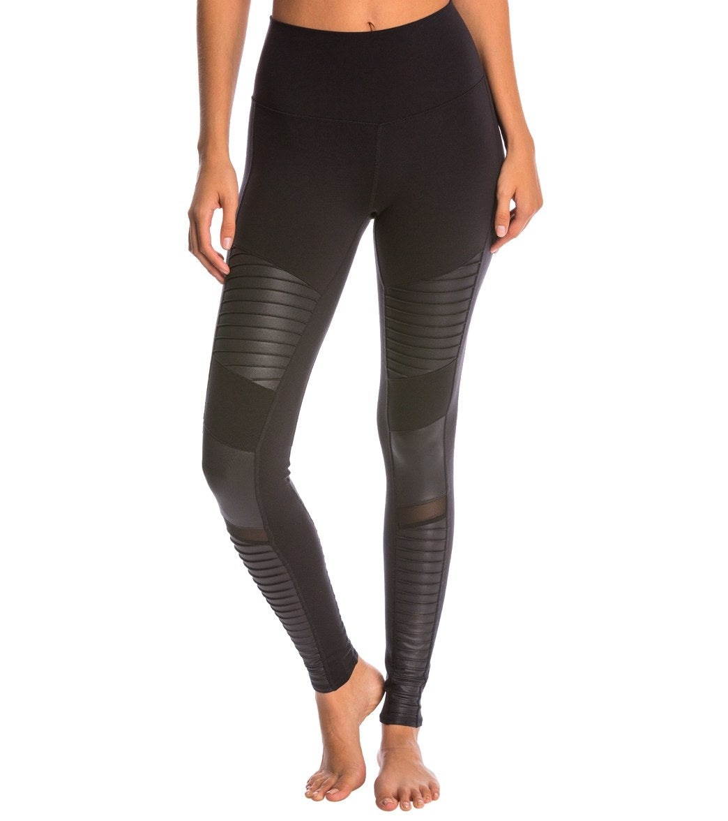 8534c1c2985762 Alo Yoga High Waist Moto Yoga Leggings at YogaOutlet.com - Free Shipping