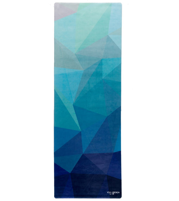 "Yoga Design Lab Geo Blue Travel Yoga Mat 70"" 1mm"