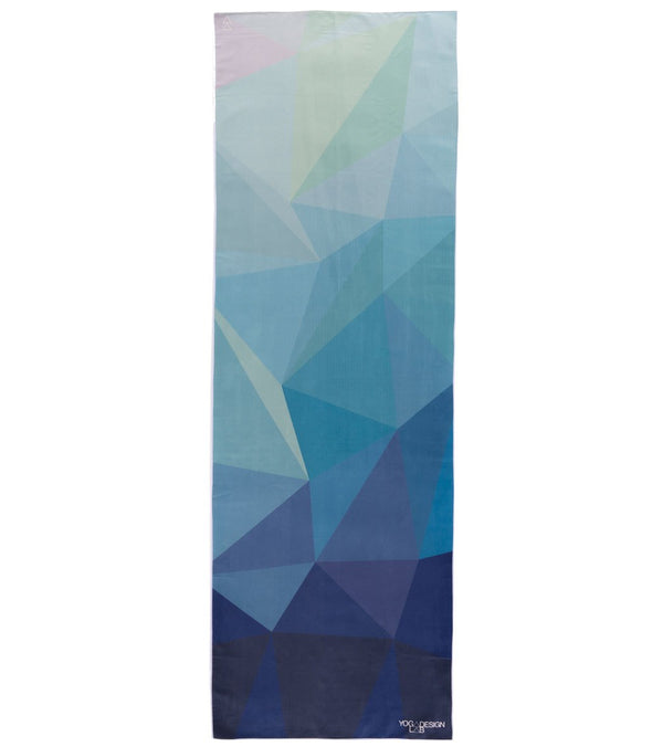 Yoga Design Lab Geo Blue Hot Yoga Mat Towel