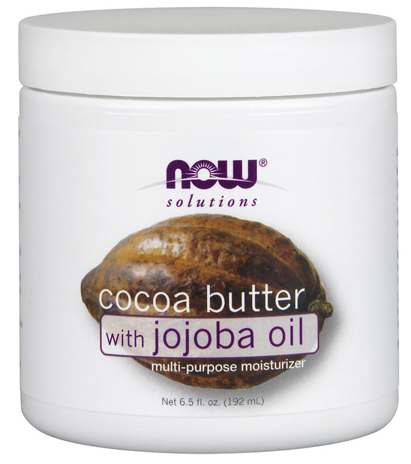 NOW 100% Pure & Natural Soft Cocoa Butter w/ Jojoba 6.5 oz