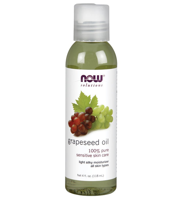 NOW 100% Pure Grapeseed Oil 4 oz