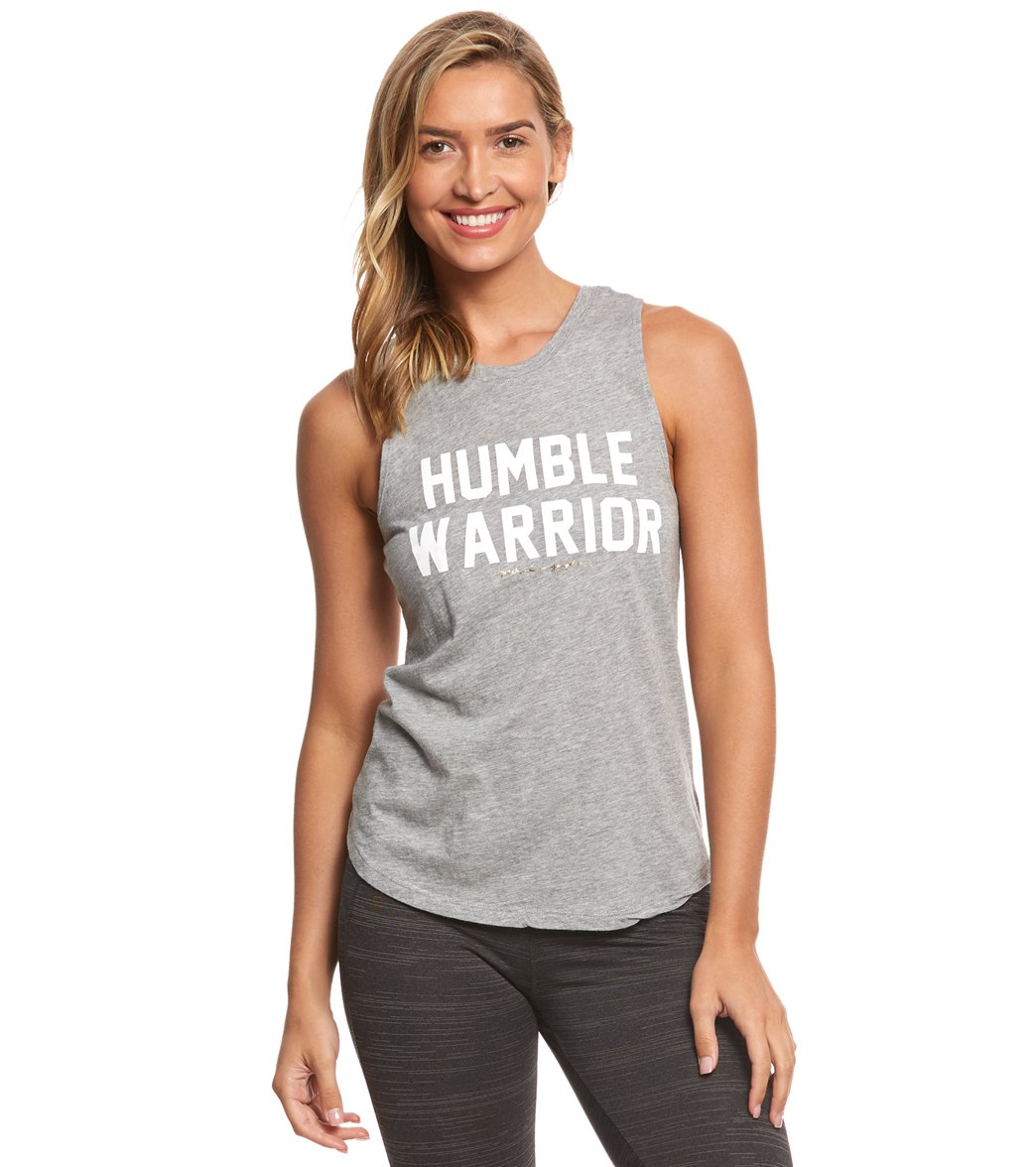 25164f36b0984 Spiritual Gangster Humble Warrior Bold Muscle Tank at YogaOutlet.com