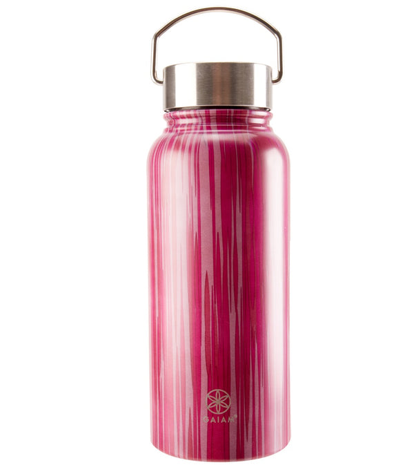 Gaiam Cabaret Print Wide Mouth Stainless Steel Water Bottle (32oz)