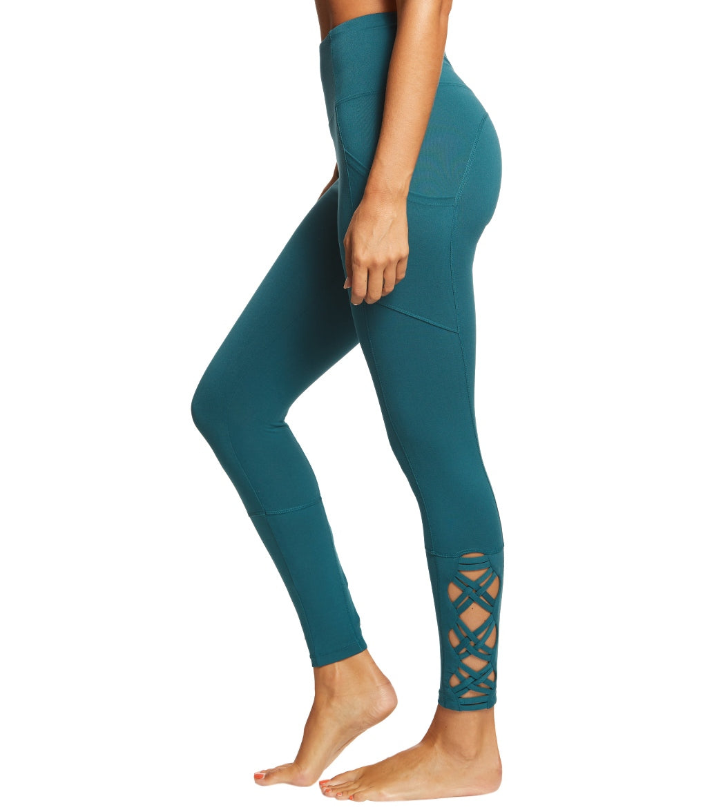 f904e0b85f69f6 Marika Tummy Control High Waisted Laced Yoga Leggings With Pockets at  YogaOutlet.com