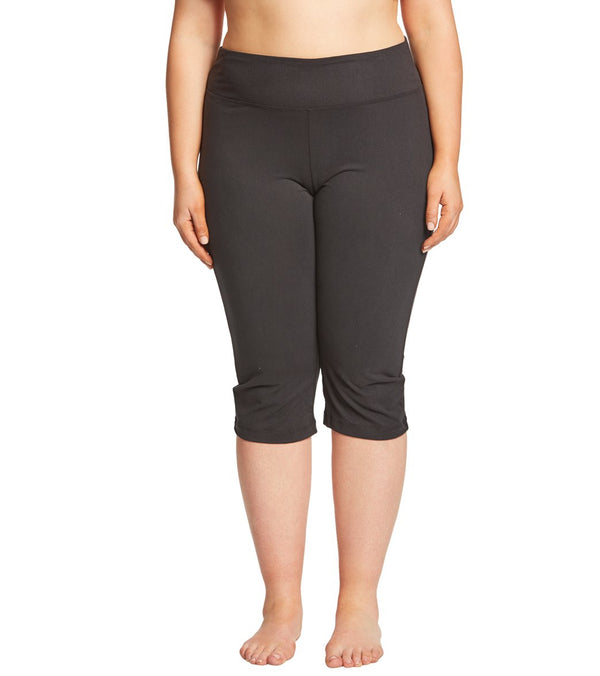 Balance Collection Plus Size Flat Waist Yoga Capris