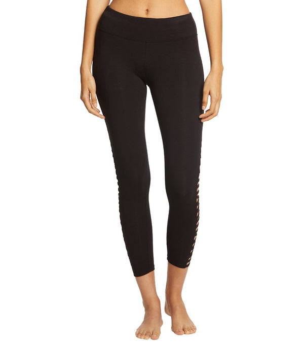 Betsey Johnson Performance Criss Cross Straight Strap 7/8 Yoga Leggings