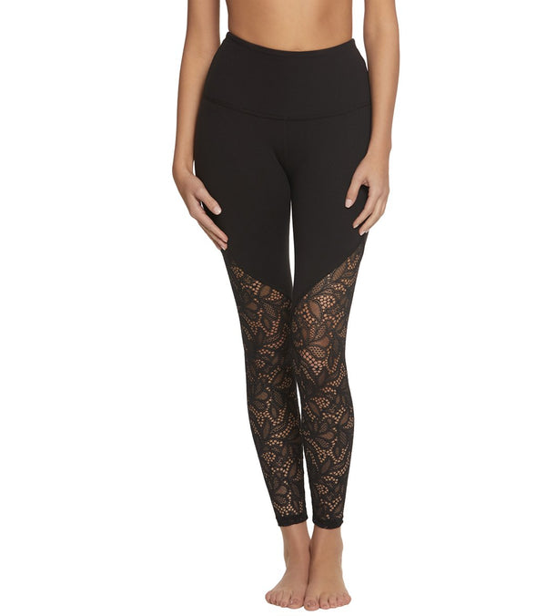 Beyond Yoga High Cut Lace High Waisted 7/8 Yoga Leggings