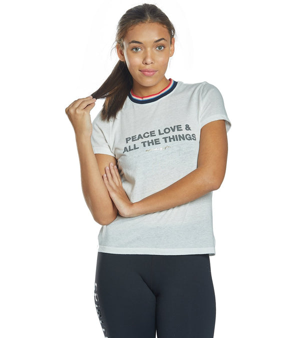 Spiritual Gangster Peace Slim Gym Tee