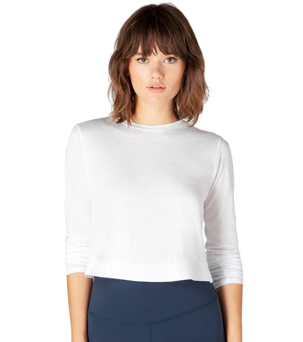 Beyond Yoga Back Out Reversible Cropped Yoga Pullover