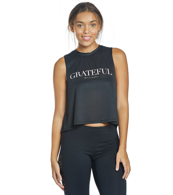 Spiritual Gangster Greatful Tech Crop Tank