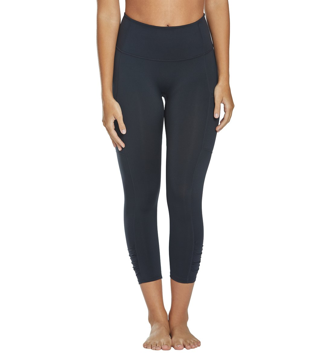 Free People Out of Your League Yoga Leggings - Black Spandex