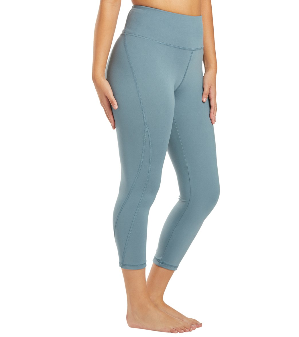 Balance Collection Briar High Waisted Yoga Capri Pants - Goblin Blue Cotton